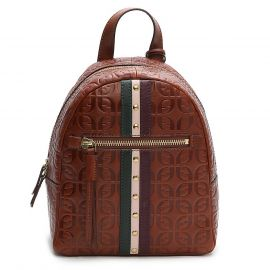 Fossil Megan Signature Brown Leather Backpack ZB7852914 Brass Bag