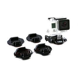 GoPro 7, GoPro 6 GoPro 5 Flat & Curved 3M Adhesive Mount Combo (Black)