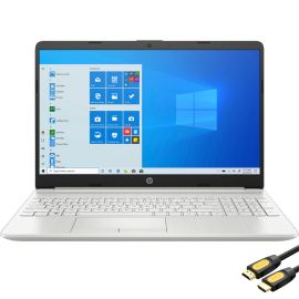 """HP 15.6"""" FHD Micro-Edge Laptop, Intel Core i3-1115G4 up to 4.1GHz, 32GB DDR4 RAM, 1TB PCIe SSD, USB-C, HDMI, Ethernet, FingerPrint, SD Reader, Wi-Fi, HP Fast Charge, Mytrix HDMI Cable, Win 10"""