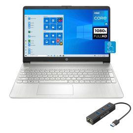 "HP 15 Touchscreen Laptop, 15.6"" FHD IPS Microedge Bezel, 11th Gen Intel Core i5-1135G7, Intel Iris Xe Graphics, 20GB RAM, 256GB SSD, Keypad, USB-C, WebCam, Mytrix Ethernet Hub, Win 10"