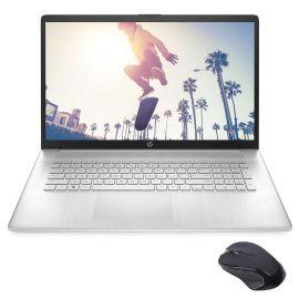 "HP 17.3"" HD+ Touchscreen Laptop, AMD Ryzen 5 5500U (beat i5-10500) 6-Core up to 4.0GHz, 32GB RAM, 256GB SSD+1TB HDD, USB-C, Numeric Keypad, HDMI, Webcam, WiFi, Myrtix Wireless Mouse, Win 10"
