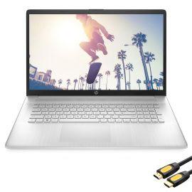 "HP 17.3"" HD+ Touchscreen Laptop, AMD Ryzen 5 5500U (beat i5-10500) 6-Core up to 4.0GHz, 32GB RAM, 1TB SSD+1TB HDD, USB-C, Numeric Keypad, HDMI, Webcam, WiFi, Mytrix HDMI Cable, Win 10"