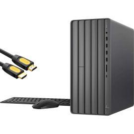 HP ENVY Gaming Desktop PC, Intel Hexa-Core i7-10700F, GeForce GTX 1660 Super 6GB, 8GB DDR4 RAM, 256GB SSD+1TB HDD,USB-C, DVD, RJ45, DP/HDMI/DVI, Mytrix HDMI Cable, Win 10 w/keyboard and mouse