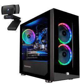 iBUYPOWER Desktop Gaming PC AMD Ryzen 3 3100 Up To 3.9GHz Radeon RX 550 2GB 32GB DDR4 RAM 1TB SSD RJ-45 LAN Wi-Fi HDMI Mytrix Webcam Win 10 w/Keyboard Mouse