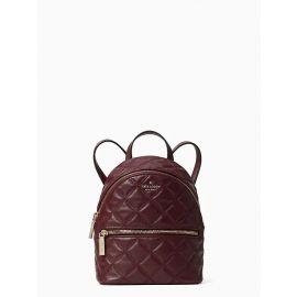 Kate Spade WKRU7075 natalia mini convertible backpack in cherry wood