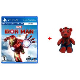 Marvel's Iron Man VR - PlayStation 4 + COACH 2751 Marvel Spider Man Collectable Bear Bag Charm In Bluejay/Red