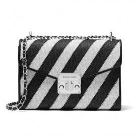 Michael Kors 35F0SX0L2L Women Medium Shoulder Handbag  Crossbody Messenger Purse Black Multi
