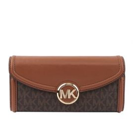 MICHAEL KORS 35F9GFTE3B FULTON LARGE FLAP CONTINENTAL WALLET BROWN