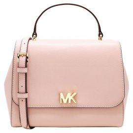 Michael Kors 35S0GOXS2L Mott Medium Top Handle Leather Satchel Bag In Blossom
