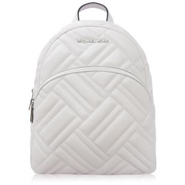 Michael Kors 35S9SAYB2T Bag Abbey Medium Backpack  Leather Optic White