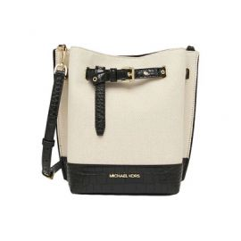 Michael Kors 35T1GU5M5C Emilia Small Black Bucket Bag Messenger