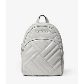 Michael Kors Abbey 35T0SAYC8L XS Mini Vegan Faxu Leather Backpack Crossbody Aluminum