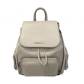 Michael Kors Bags Abbey Vegan Faux Leather Backpack Pearl Grey 35S0SAYB3J