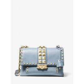 Michael Kors Cece 30S9G0EL6L Medium Chain Shoulder Leather Bag In Pale Blue