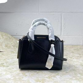 Michael Kors Daria 35S1GDIC2L Small Leather  2-in-1 Satchel Dome Crossbody Bag Black