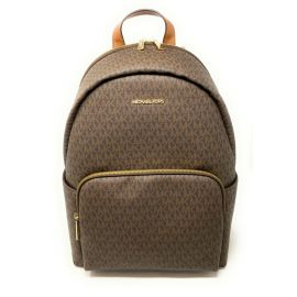 Michael Kors Erin 35F0GERB7B Large Backpack Brown MK Signature