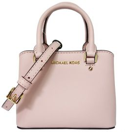 Michael Kors Giftables Savannah Leather Mini Crossbody Purse Handbag - Blossom