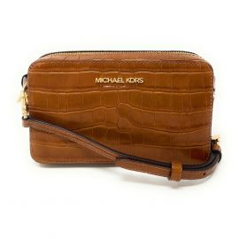Michael Kors Jet Set Item Medium Belt Bag Crossbody Leather Clutch Walnut