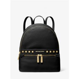 Michael Kors Kenly 35H9GY9B2L Medium Leather Backpack In Black
