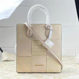 Michael Kors Mercer 35T1GM9T2E Medium NS Shopper Handbag Tote In Buff