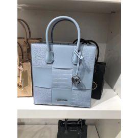 Michael Kors Mercer 35T1SM9T2E Medium NS Shopper Handbag Tote In Pale Blue