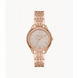 Michael Kors MK7085 Women's Mindy Three-Hand Rose Gold-Tone Stainless Steel Watch