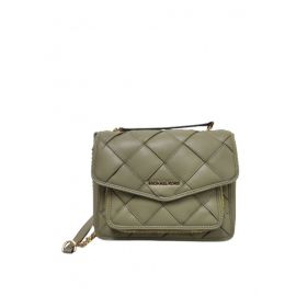 MICHAEL KORS Regina 35S1GU7L8U  Medium Woven Shoulder Bag In Thyme