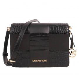 Michael Kors Small Mercer 35T1GM9C1E Clutch Crossbody Bag In Black