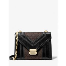 Michael Kors Whitney 30H8GWHL7B Large Shoulder Bag In BROWN/BLACK