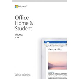 Microsoft Office Home and Student 2019 | 1 device, Windows 10 PC/Mac Key Card (Open Box)