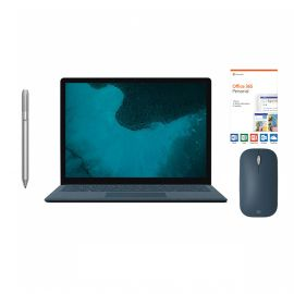 "Microsoft Renewed Surface Laptop 2 Cobalt Blue 13.5"" Touchscreen PC, Core i5, 8GB RAM, 256GB SSD, Win 10 w/Platinum Pen, Cobalt Blue Mobile Mouse, Office 365 Personal"