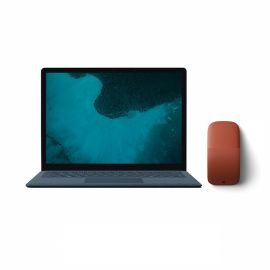 "Microsoft Renewed Surface Laptop 2 Cobalt Blue 13.5"" Touchscreen PC, Core i5, 8GB RAM, 256GB SSD, Win 10 w/Poppy Red Arc Mouse"
