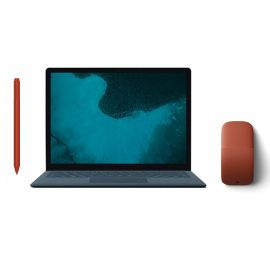 "Microsoft Renewed Surface Laptop 2 Cobalt Blue 13.5"" Touchscreen PC, Core i5, 8GB RAM, 256GB SSD, Win 10 w/Surface Pen, Arc Mouse - Poppy Red"