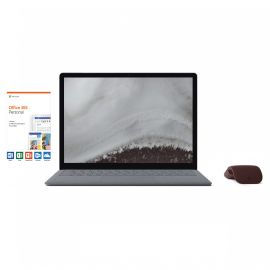 "Microsoft Renewed Surface Laptop 2 Platinum 13.5"" Touchscreen PC, Core i5, 8GB RAM, 256GB SSD, Win 10 w/Burgundy Arc Mouse, Office 365 Personal"