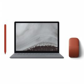 """Microsoft Renewed Surface Laptop 2 Platinum 13.5"""" Touchscreen PC, Core i5, 8GB RAM, 256GB SSD, Win 10 w/Surface Pen, Arc Mouse - Poppy Red"""
