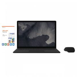 """Microsoft Surface Laptop 2 Black 13.5"""" 2256x1504 Touchscreen PC, 8th Gen Core i7, Quad Core up to 3.4 GHz, 16GB RAM, 512GB SSD, Webcam, Bluetooth, Win 10 w/Black Arc Mouse, Office 365 Personal"""