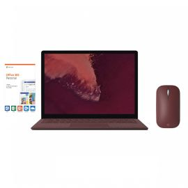 """Microsoft Surface Laptop 2 Burgundy 13.5"""" 2256x1504 Touchscreen PC, 8th Gen Core i7, Quad Core, 16GB RAM, 512GB SSD, Webcam, Win 10 w/Burgundy Mobile Mouse, Office 365 Personal"""