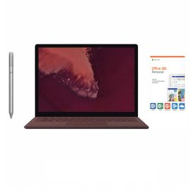 "Microsoft Surface Laptop 2 Burgundy 13.5"" 2256x1504 Touchscreen PC, 8th Gen Core i7, Quad Core, 16GB RAM, 512GB SSD, Webcam, Win 10 w/Platinum Surface Pen, Office 365 Personal"