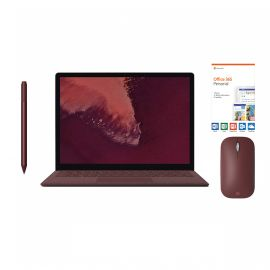 """Microsoft Surface Laptop 2 Burgundy 13.5"""" 2256x1504 Touchscreen PC, 8th Gen Core i7, Quad Core, 16GB RAM, 512GB SSD, Win 10 w/Burgundy Surface Pen, Mobile Mouse, Office 365 Personal"""