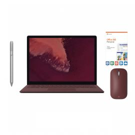 """Microsoft Surface Laptop 2 Burgundy 13.5"""" 2256x1504 Touchscreen PC, 8th Gen Core i7, Quad Core, 16GB RAM, 512GB SSD, Win 10 w/Platinum Pen, Burgundy Mobile Mouse, Office 365 Personal"""