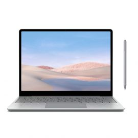 "Microsoft Surface Laptop Go 12.4"" Touchscreen Laptop PC, Intel Quad-Core i5-1035G1, 4GB RAM, 64GB eMMC, Webcam, Win 10, Bluetooth, Online Class Ready, w/Surface Pen - Platinum"