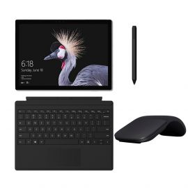 "Microsoft Surface Pro 5 2 in 1 12.3"" (2736 x 1824) TouchScreen Tablet, Intel i5-7300U 2.6GHz, 8GB RAM, 128GB SSD, Webcam, Bluetooth w/ Type Cover, Surface Pen, Arc Mouse, Win 10 Pro - Black (Renewed)"