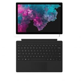 "Microsoft Surface Pro 6 2 in 1 12.3"" (2736 x 1824) TouchScreen Tablet, Intel Core i5, 8GB RAM, 256GB SSD, Win 10 w/Type Cover, Free Protector - Black"
