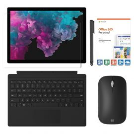 "Microsoft Surface Pro 6 2 in 1 12.3"" (2736 x 1824) TouchScreen Tablet, Intel Core i5, 8GB RAM, 256GB SSD, Win 10 w/Type Cover, Mobile Mouse, Digital Pen, Office 365, Free Protector – Black"