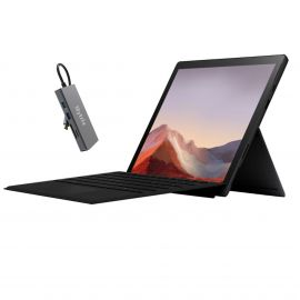 "Microsoft Surface Pro 7 2 in 1 12.3"" (2736 x 1824) TouchScreen Tablet Black, Intel Core i5, 8GB RAM, 256GB SSD, Webcam, Win 10 w/Type Cover, Mytrix USB-C Hub - Black"