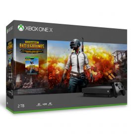 Microsoft Xbox One X 2TB SSD PUBG Bundle with Wireless Controller and Xbox Game Pass Live Gold Trial - Native 4K HDR - Enhanced with Solid State Drive - Black