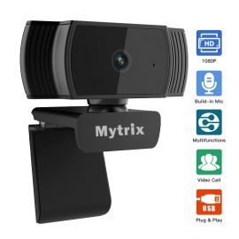 Mytrix AutoFocus Full HD 1080P Webcam, Built-in Noise Cancelling Mic, USB Webcam for Windows Mac PC Laptop Desktop Video Calling Recording Conferencing Streaming, Skype Zoom Facebook Youtube