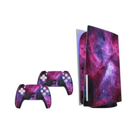 Mytrix PS5 Skin for Playstation 5 Disc Version Console Controllers, Durable Protective Skin Stickers for Playstation 5 PS5 Disk Console Controllers, Vinyl Decal Style Stickers for PS5 - Cosmic Galaxy