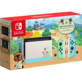 Nintendo Switch Animal Crossing Limited Console Super Mario Maker 2 Bundle, with Mytrix Tempered Glass Screen Protector - Improved Battery Life Console with the Best Mario Maker Game