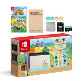 Nintendo Switch Animal Crossing Special Version Console Set, Bundle With Animal Crossing: New Horizons And Mytrix Accessories